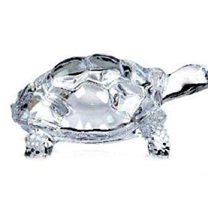 Crystal Turtle with Plate- Fang Shui Vastu Set of Crystal Tortoise and Plate Best Gift for Career, Health and Wealth