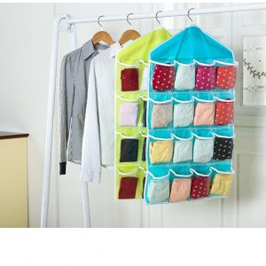 Wall Mounted 16 Grid Storage Bag for Clothing Socks Pants and Stuffed Plush Toys Storage Bags
