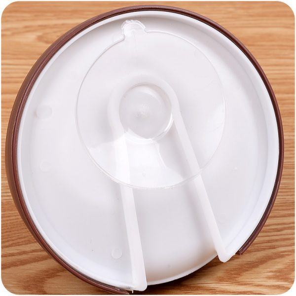 Colour Suction Cup Soap Dish Plate Round Shape Case Storage Holder Drain Dish Wall Mounted Bathroom Accessories