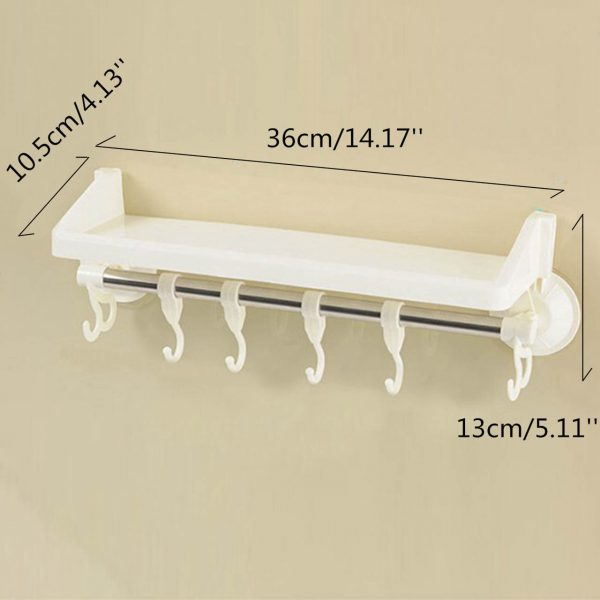 Double Layer Suction Wall Mounted Towel Hook Holder